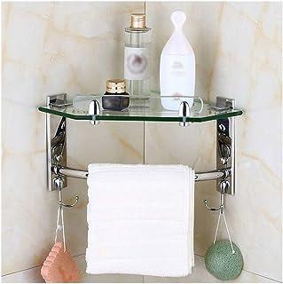 Porte-serviettes Multicouche coin salle de bains étagère en acier inoxydable Douche de rangement porte-serviettes, Porte-b...