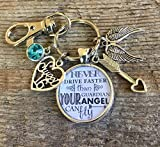 Sweet 16 key chain, Never drive faster than guardian angel can fly,...
