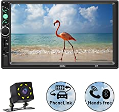 SPEEDTON 7 Inch Double Din Capacitive Touch Screen Car Stereo Audio Video MP5 Player Car Radio with Bluetooth Mirrorlink FM Radio Backup Camera/USB/SD/AUX Input