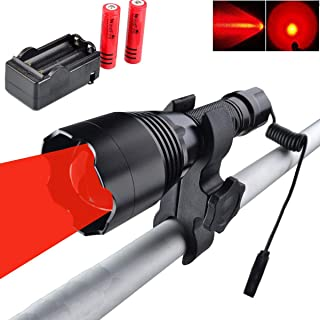 WINDFIRE WF-360R Red Hunting Light Tactical LED Flashlight 350 Yards Focus Adjustable Torch Coyote Hog Fox Predator Varmint Night Hunting Lamp