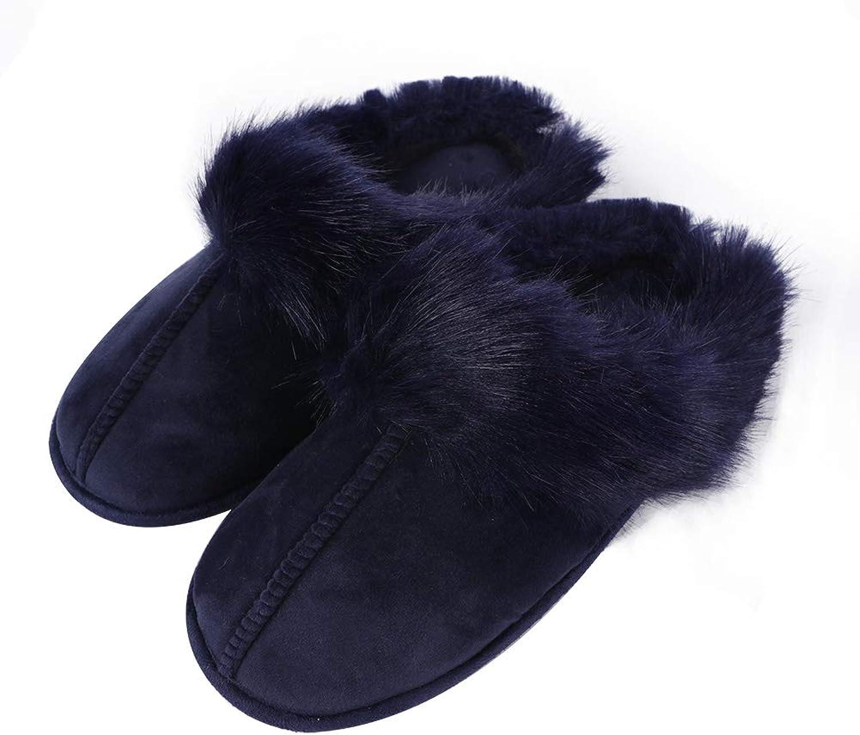 Iisutas Women's Flip Flop, Faux Fur Soft Slide Flat House Slippers for Indoor Outdoor