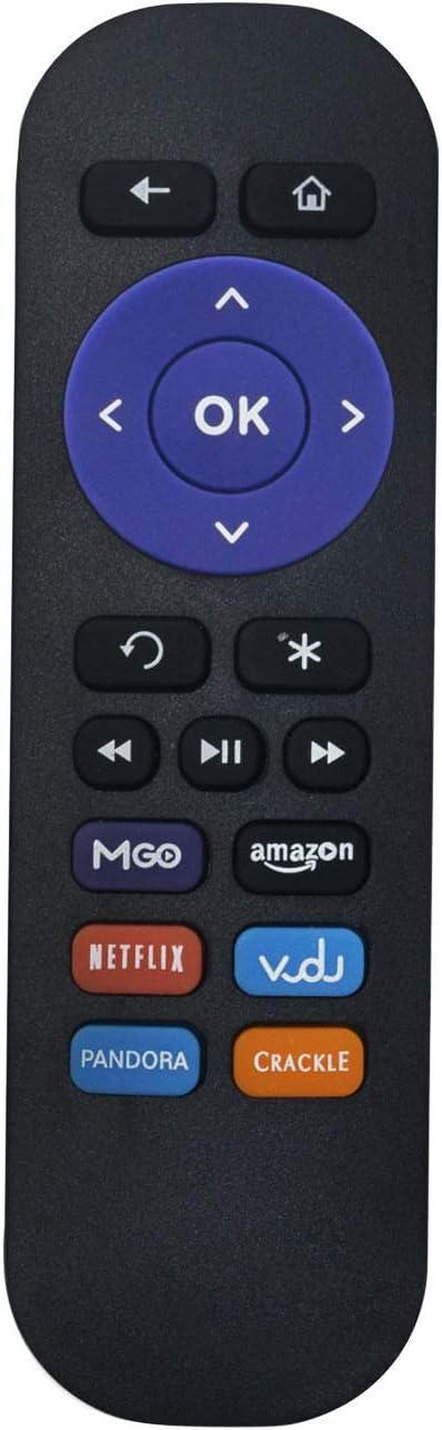 AIDITIYMI MANVPC Remote Control Replace for Roku Streaming Media Player 1 2 3 4(HD LT XS XD), Roku Express 3900R, Roku Premiere 4620XB 4210XB 3900R 2500R 2700R 2450XB Remote