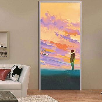 Türposter Türaufkleber Türtapete selbstklebend Abstraktion Dekoration Malerei