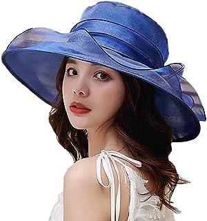 YiyiLai Brim Solid Foldable Sun Hat Derby Wedding Tea Party Kentucky Cap