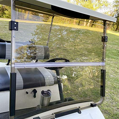 Lowest Prices! Scaller for 1995-2003 Yamaha G14 G16 G19 Golf Cart Tinted Windshield Foldable Resista...