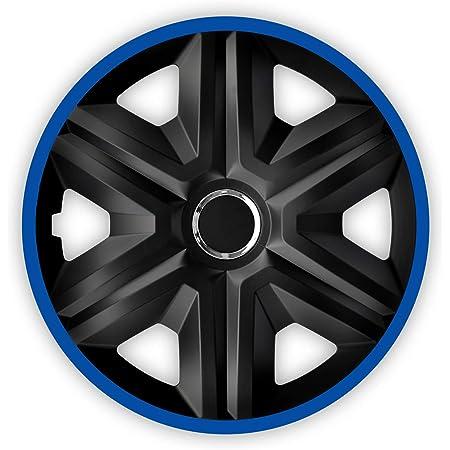 Nrm Fast Lux 4x Universal Radkappen Radzierblenden Radblenden Auto Kfz 4 Stück Schwarz Blau 14 Auto