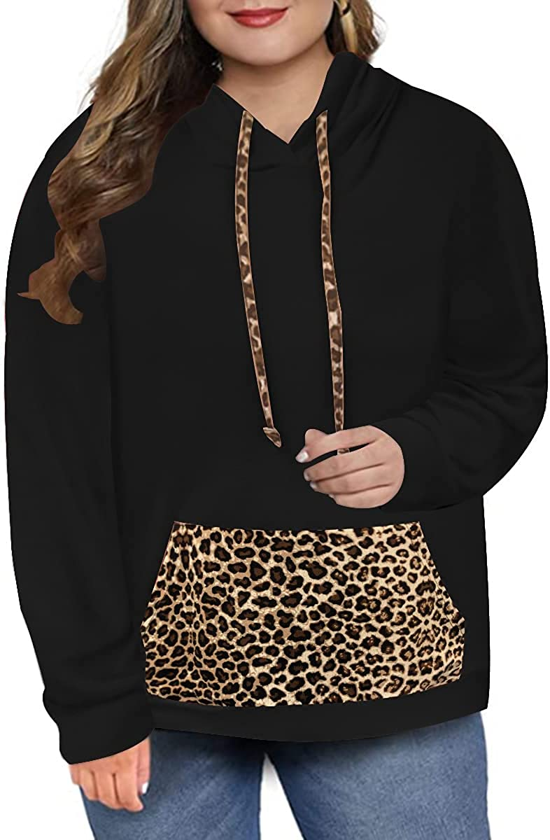 Ritera Womens Plus Size Hoodies Tops Long Sleeve Shirt Drawstring Pullover Causal Sweatshirts XL- 5XL