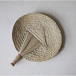 11'' Natural Raffia Fans, Handicraft, Perfect for Summer
