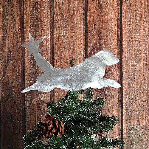 Golden Retriever Dog Christmas Tree Topper, Holiday Decoration, Aluminum