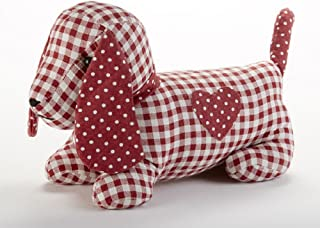 Delton Products Dog Door 13 Inches x 9 Inches Linen Stop Stuffed Animals Red