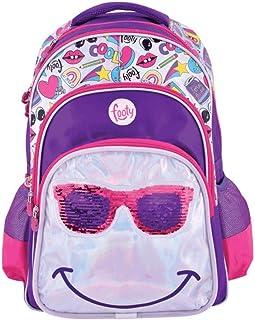 | Mochilas para Niñas para Preescolares y Colegio De Primaria - Estilo Smile Juveniles con Lentejuelas y de Tela - Ve a la Moda - Tendencia 2020