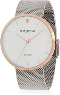 Kenneth Cole Mens Quartz Watch, Analog Display and Stainless Steel Strap KC50638004