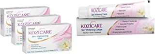 Kozicare Skin Whitening Kit 3 Soap + 1 Cream (for Whiter & Brighter Skin)