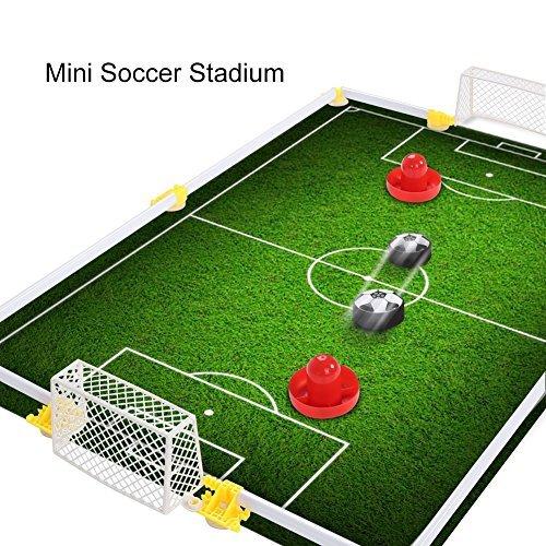 Kinder Air Power Fußball Set Spielscheibe Hover Fußballspiel mit Schaum Stoßfänger für Jungen und Mädchen Spielzeug