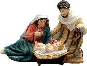 Generic Miniature Decoration Elegant Nativity Mary Joseph Jesus Statues Holy Family Resin Decorative Figures Ornament - 1...