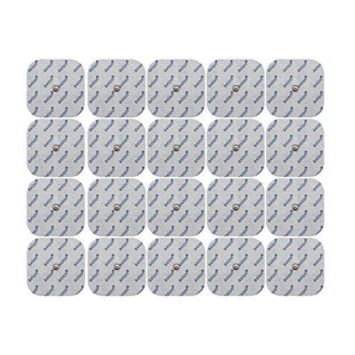 20 Electrodos axion de 5x5 cm TENS & EMS para su aparato COMPEX