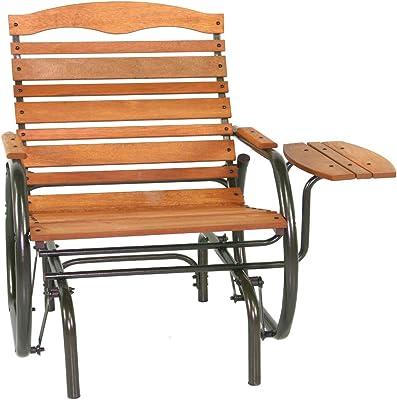Amazon.com: Asiento metal mecedora silla muebles de jardín ...