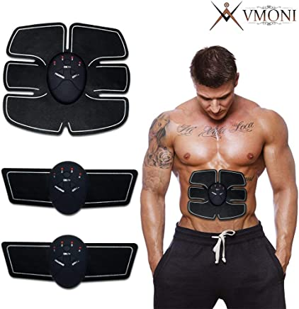 VMONI Muscle Exerciser Stimulator Fitness Gym Abs Stickers Pad For Body Slimming For Unisex (multi Colour)