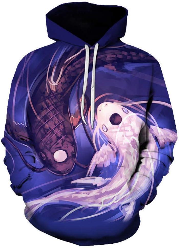 LUO Nouveau sweat à capuche 3D impression mâle/femelle à manches longues occasionnel sweatshirt,M L
