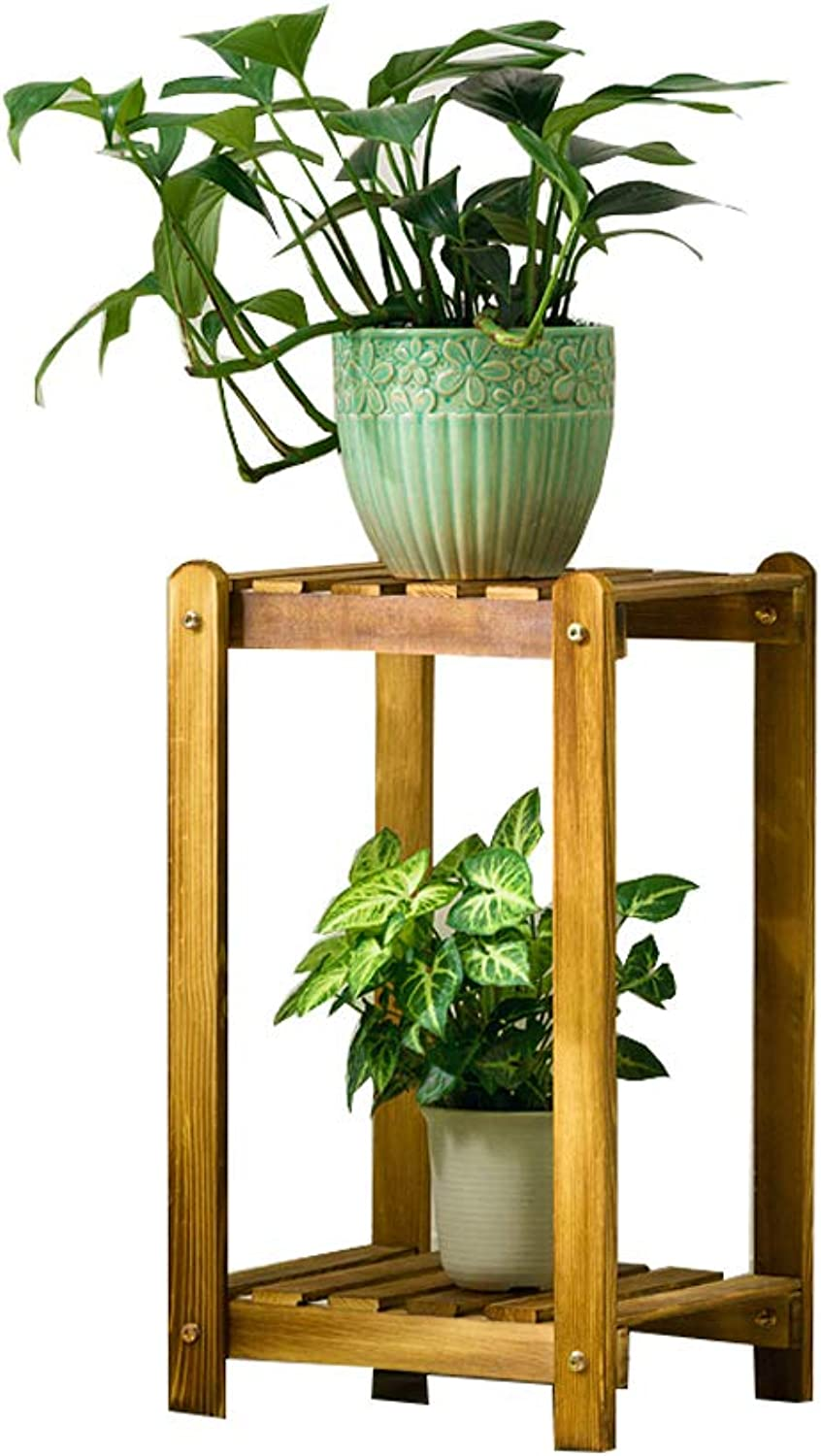 WYNZYHJ Plant Stand, Solid Wood Flower Shelf Floor Wooden Multi-Layer Space Saving Pot Rack (color   S)