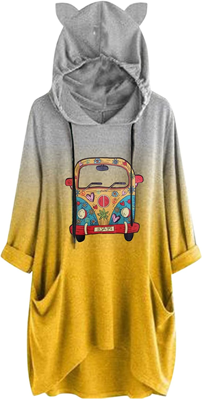 Xinantime Christmas Printed Sweatshirt Women's Irregular Hem Pullover Tops Half Sleeve Oversized Casual Jumper Regular Fit