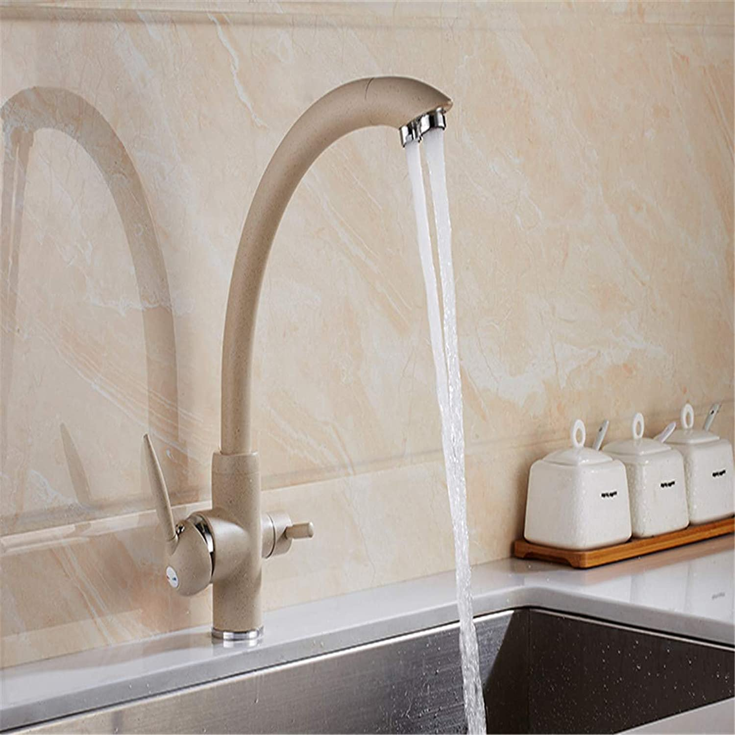 Retro Plated Hot and Cold Faucet Retrokitchen Faucets Solid Brass Crane for Kitchen Deck Mounted Water Filter Tap