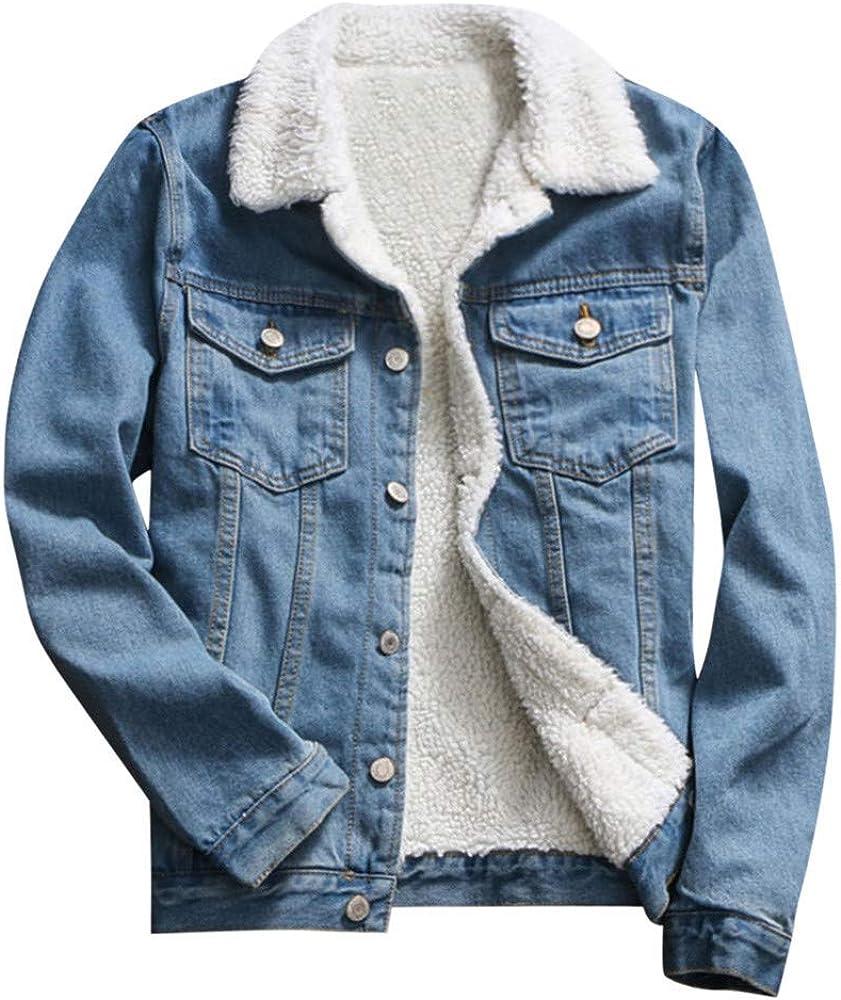 Nmch Women Autumn Winter Vintage Denim Upset Jacket Casual Warm Long Sleeve Buttons Loose Jeans Coats