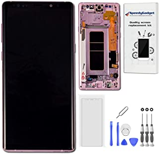 [Lavender Purple Frame] AMOLED Screen Display Touch Digitizer LCD Replacement for Samsung Galaxy Note 9 by SpeedyGadget