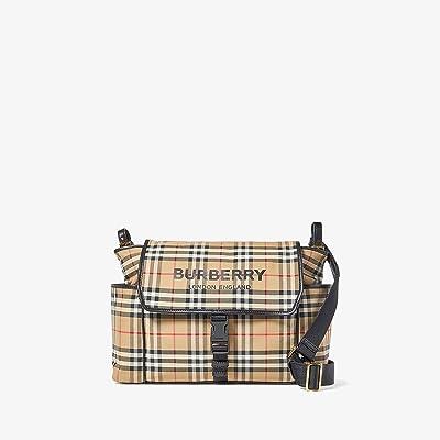 Burberry Kids Flap Diaper Bag (Archive Beige) Diaper Bags