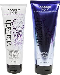 Vitabath Body Cream and Body wash skin moisture Duo set (Coconut Noir)