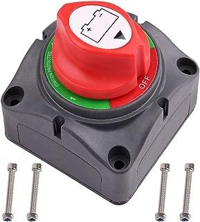 1-2-Both-Off Battery Switch, 6V 12V 24V 48V 60V Battery Disconnect Master Cutoff Switch for Marine Boat Car RV ATV UTV Vehicle, Waterproof Heavy Duty Battery Isolator Switch, 200/1250Amps