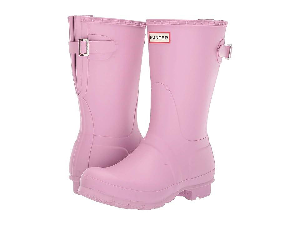 Hunter Original Short Back Adjustable Rain Boots (Blossom) Women