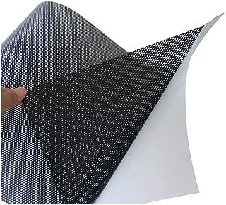 AGNN Faro de la Ventana del Coche Negro Perforado Ojo película de Malla unidireccional de la visión del Vinilo del Abrigo de 48