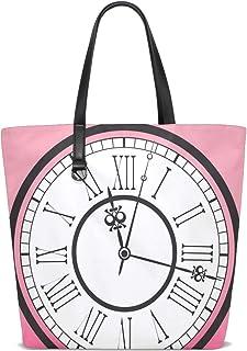 FANTAZIO Umhängetasche für Damen, Vintage-Uhren-Muster, Tragetasche
