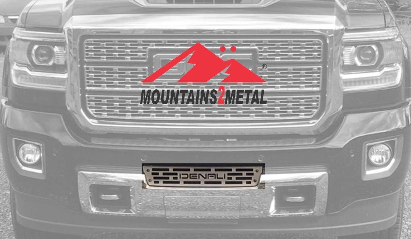 Mountains2Metal Bumper depot Grille Insert Ed Brushed Stainless depot Denali