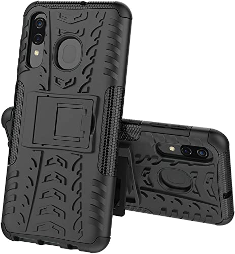 Brotech Rugged Hard Back Armor Case Protective Kickstand Cover For Samsung Galaxy A50 A30 A50s A30s A20 Black