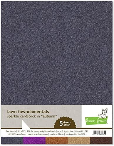 Lawn Cheap Fawn Sparkle Cardstock 8.5