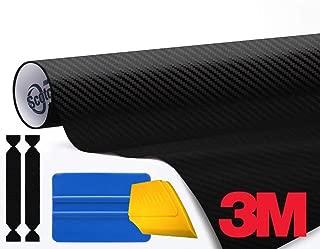 3M 1080 Carbon Fibre Black Air-Release Vinyl Wrap Roll Including Toolkit (3ft x 5ft)