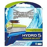 Wilkinson - Hydro 5 Power Select - Lames de rasoir pour Homme - Pack de 8