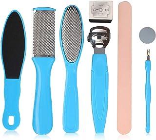 Kit per Pedicure, Kit di Strumenti per Pedicure Professionale, Lime in Acciaio Inossidabile Kit, Raspa per il Piede Cura d...