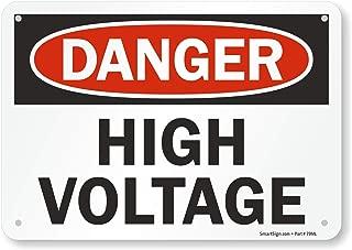 SmartSign Plastic OSHA Safety Sign, Legend