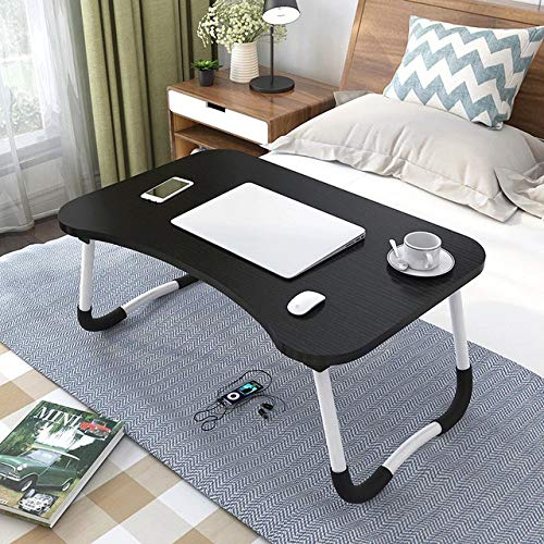 Home Foldable Laptop Desk, Portable Table Tray For Bed And Sofa, Bedside Tray For Study And Reading