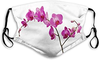 Vindtät aktiverad kolmask, vilda orkidéer blomblad blomster gren romantisk blomma exotisk växt natur konsttryck ansiktsdek...