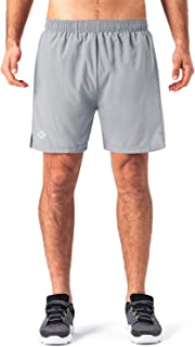 Naviskin Men's 5 Quick Dry Running Workout Shorts UPF 30+ Sun Protection Outdoor Shorts Zip Pocket
