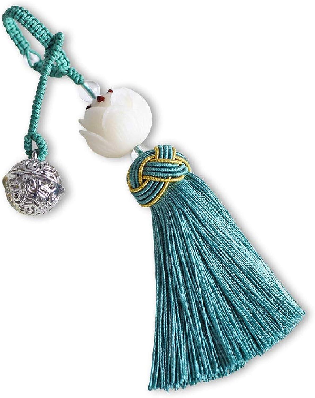 C&S Autoschlüssel Anhänger Bodhi Lotus Blau Quasten Quasten Quasten Schlüsselanhänger Klassische Schlüsselanhänger Geschenk Ornamente kreative handgemachte Geschenke B07HKDB6SL 1e9d46