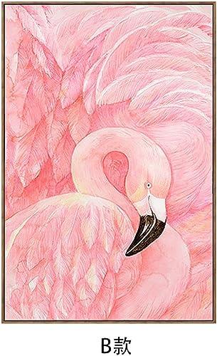 Limin Dekoratives Anstrichsofas des Wandbildmodernen unbedeutenden Wohnzimmers HinterGründwandmalerei-Eingangsessenzimmer-Schlafzimmermalereien Studieren Flamingo (Farbe   B, Größe   50  70CM)