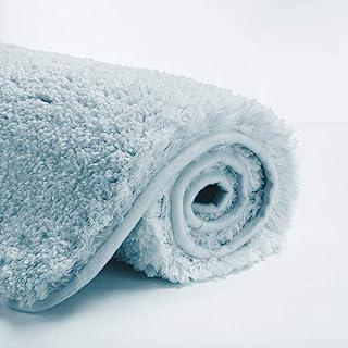 Suchtale Bath Rug for Bathroom Non Slip Bathroom Mat (20 x 32, Light Blue) Water Absorbent Soft Microfiber Shaggy Bathroom...