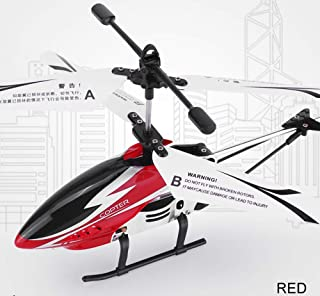Remote Control Helicopter Glory with 3.5GHZ Channel Mini Alloy RC Helicopter Toy and Gyro- Red for Kids