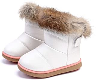 Beautoday Girls Boys Snow Boots Winter Warm Waterproof Outdoor Non-Slip Cold Weather Comfortable Casual Shoes (Toddler/Little Kid)