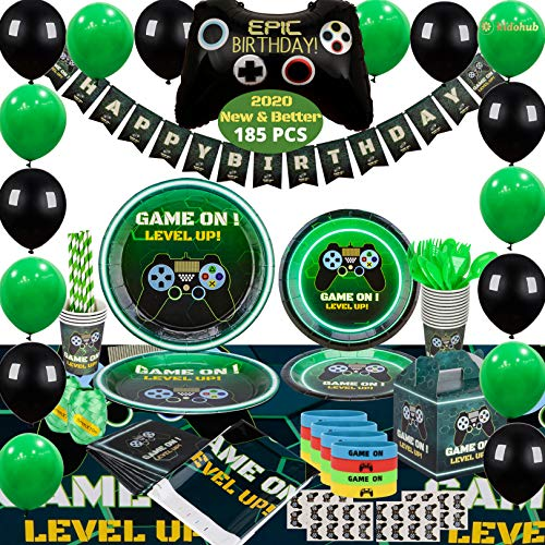 Kidohub Gaming Party Supplies For Boys - Gamer Birthday Party Supplies -...
